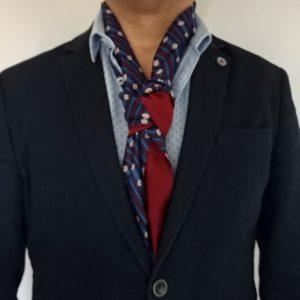 écharpe en soie pour homme