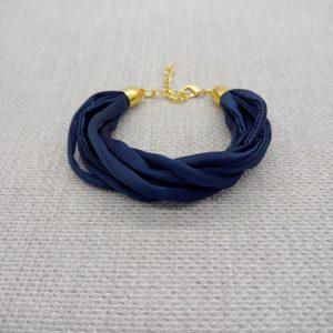Bracelet Soie Marine